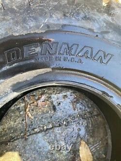 X2 Denman Industrial Lug 10 ply Forklift Tires 6.50-10NHS Tube Type Black Wall